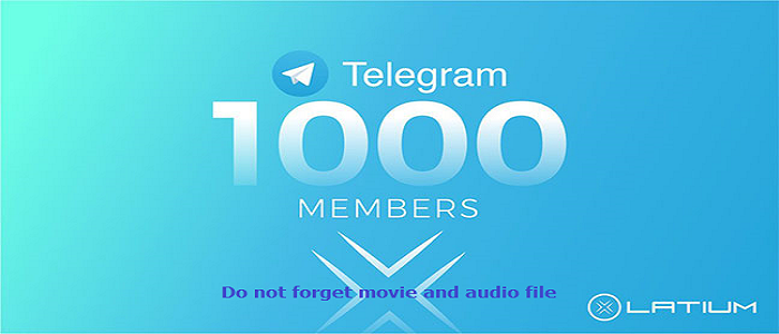 Do not forget movie and audio file - buy telegram channel members
